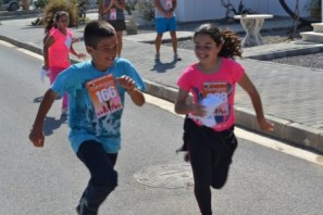 Finishers from the childrens event