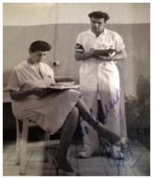 Archie Robert Archibald with Sir Hugh Foots wife Sylvia