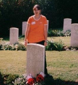 Tina's daughter Filiz at The Ancona war cemetary
