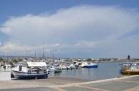 Looking eastward along Paphos harbour