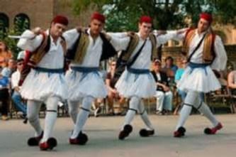 Greek folk dance group