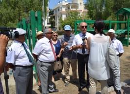 Girne Mayor, Sumer Aygin being interviewed.