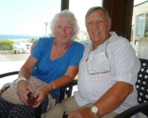 Roy Ashton with partner Carol Carlile