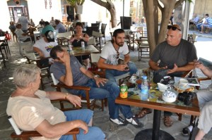 Relaxing near the Round Tower with Engin and his BRTK crew