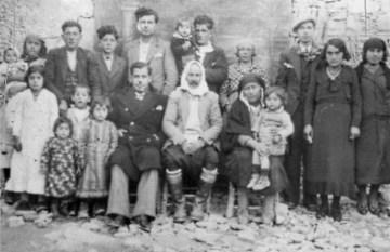 The Kavaz family mid 1930s. Mehmet Bekir in centre