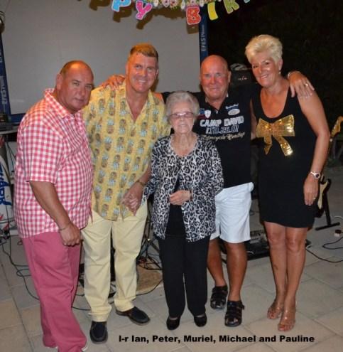 l-r Ian, Peter, Muriel, Michael, Pauline