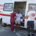 Photo 3 Kolan British Ambulance checks out feet and blood pressures