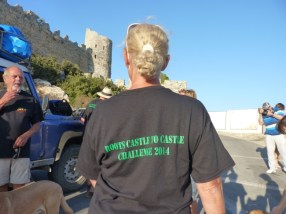 Roots Ramblers arrive at St Hilarion Castle.