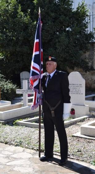 Remembrance Day 2012 - RBL Union Flag Bearer - Mick Bone