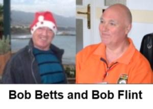Bob Betts and Bob Flint swimming at Shayna Beach