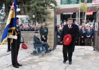 Remembrance Day 2011 - Mr Keith Lloyd lays a wreath on behalf of the The Brigade of Guards