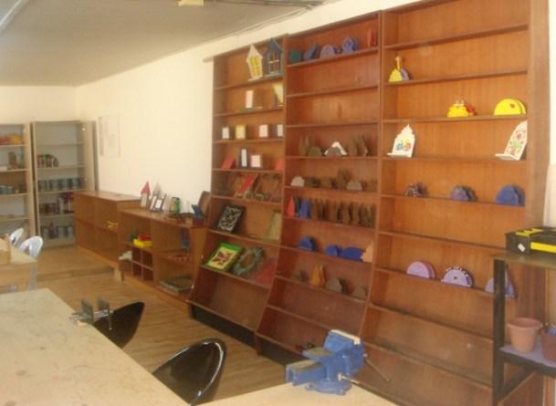 The re-furbished woodwork workshop