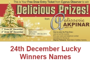 24th December Lucky winners names picture