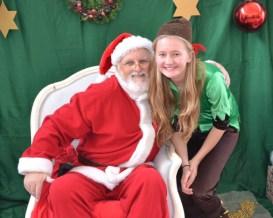 Dear old Santa with his helper
