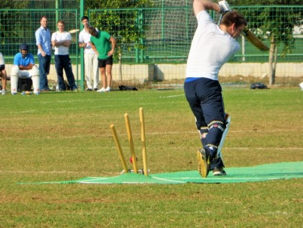 Andy Cole being bowled by Janwali Khan for 1