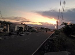 Sunset in our road at Anton rental