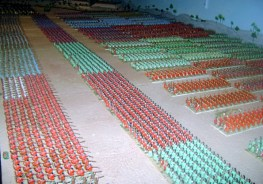 Battle of Cannae 216 BC. The Roman legionaries in classic chequer-board formation