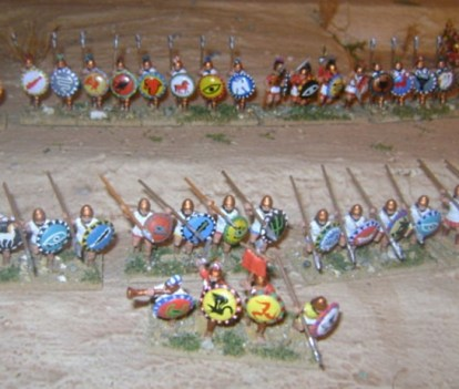 Battle of Cannae 216 BC. Spanish and Celtic infantry