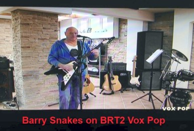 Barry Snakes on BRT2 Vox Pop
