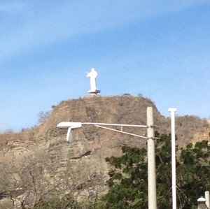 Jesus looks down on San Juan del Sur