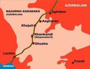 Khojaly map