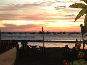 Sunset from restaurant in San Juan del Sur
