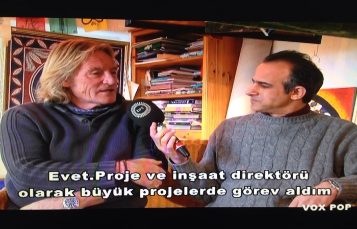 Steve Templeman talking to Engin Dervisaga