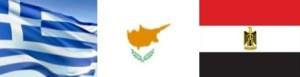 Greece, Cyprus, Egypt flag