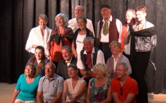 KADS Rehearsal - Some of the cast stop for a photo shoot