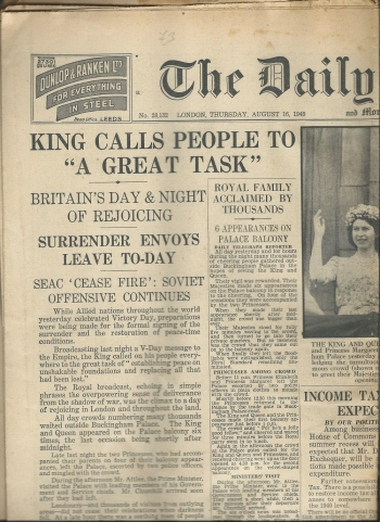 Britains celebrates the end of World War 2