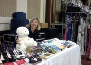 Committee member Sandra at the NCCCT stall