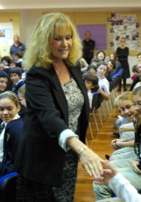 Singing for the children at the English School of Kyrenia
