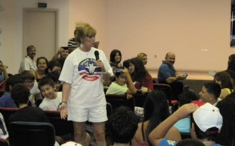 Singing for children at the Space Camp Turkey