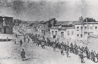 Armenians being deported from Turkey