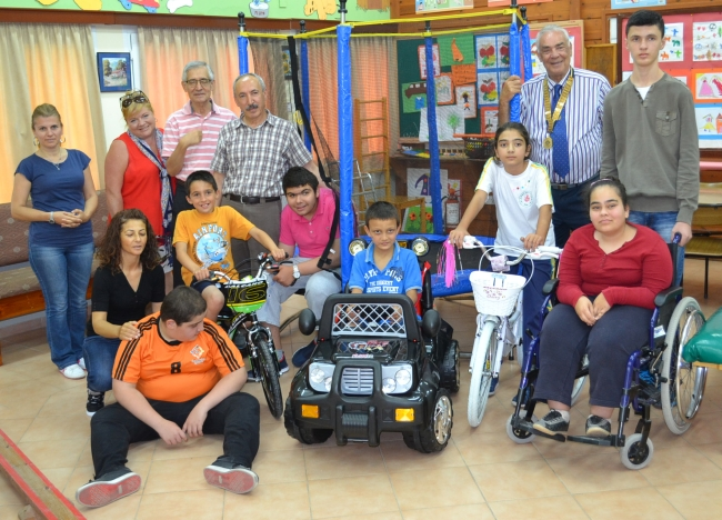 Rotary Club of Kyrenia Liman presentation to the Karakum Special Needs school