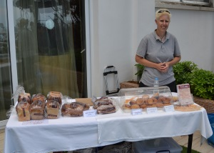 Sonja at the Food Lodge stall