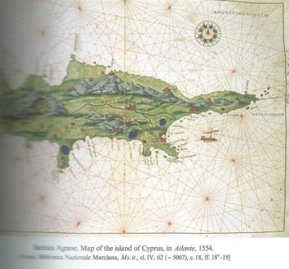 A map by Battista Agnese 1554. (Venice Biblioteca Nazionale Marciana)