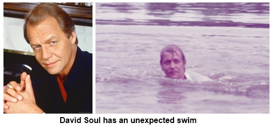 David Soul takes an unexpected swim