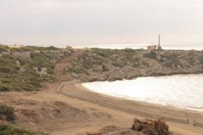 Looking west along the beach. Esentepe Beach Project Update. 29 June 2015
