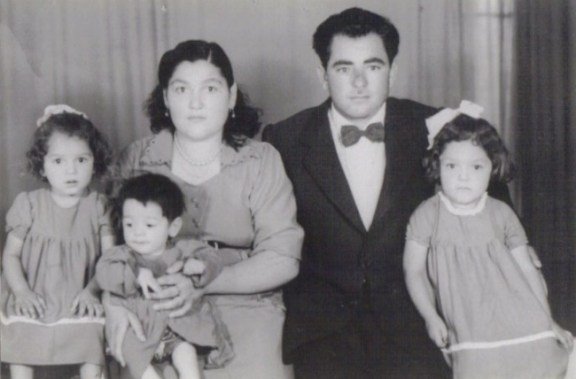 Family photo in summer of 1956