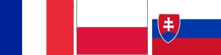 Flags - France, Poland, Slovakia