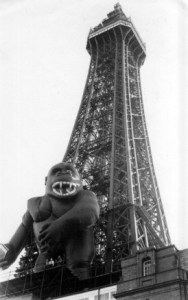 King Kong on Blackpool Tower