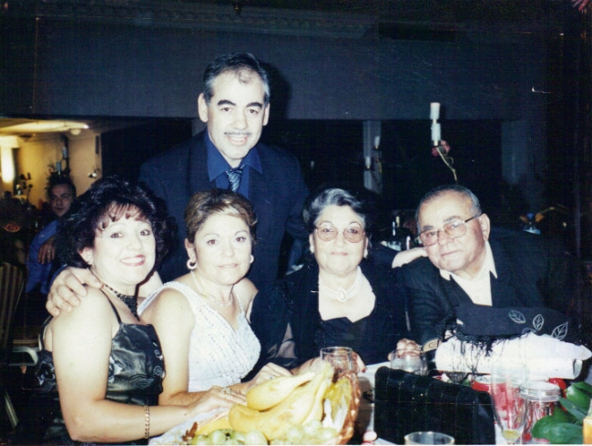 My family in 1999. a bit different to the one we took in 1956