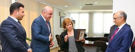 Emine Colak and Azerbaijan businessmen