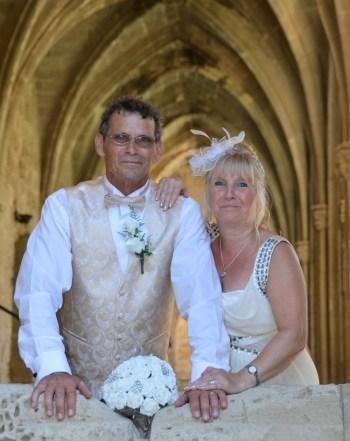 Happy couple window picture courtesy of Jean Clark