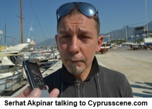 Serhat Akpinar speaking to cyprusscene image