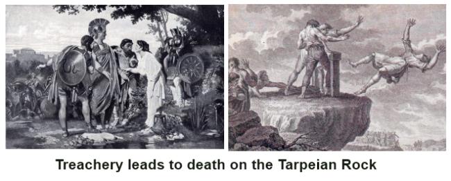 Treachery and death on the Tarpeian Rock