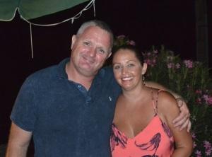 Daren Barton and partner Michaela