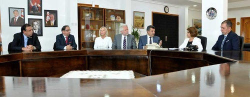 Emine Colak receives guests