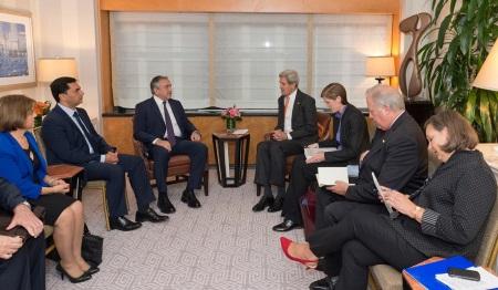 Mustafa Akinci meets with John Kerry